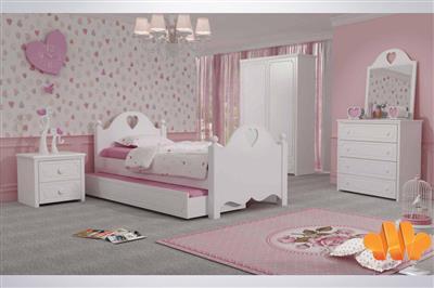 مدل تخت خواب دخترانه جوان سفید