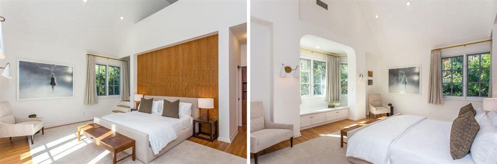 اتاق خواب در منزل دی کاپریو