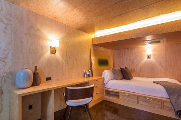 اتاق خوابی برای مهمان در منزل دی کاپریو