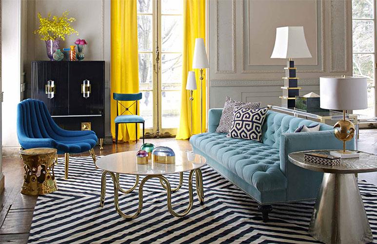 زیبا سازی منزل با تم رنگی آبی روشن
