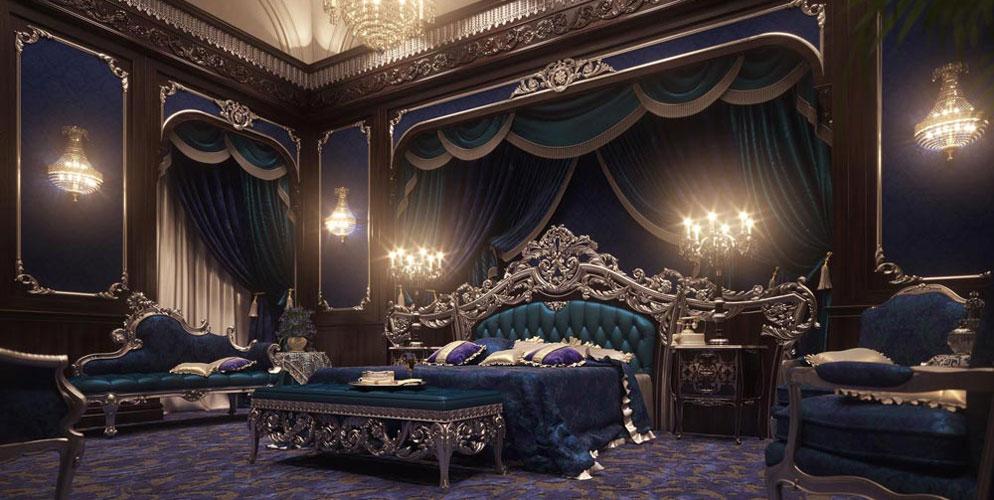اتاق خواب های لوکس در چیدمان سلطنتی